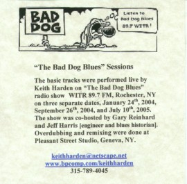 [Keith Harden - The Bad Dog Blues Sessions]