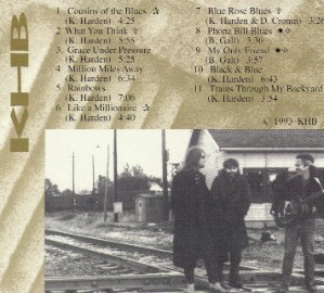 [Keith Harden - Cousins of the Blues - Back Cover]