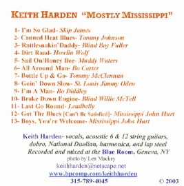 [Keith Harden - Mostly Mississippi]
