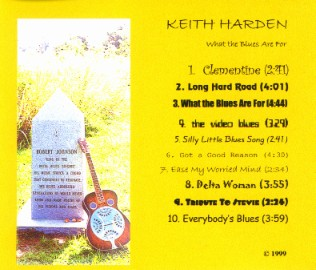 [Keith Harden - What The Blues Are For - Back Cover]
